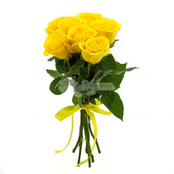 Букет из 7 желтых Эквадорских роз